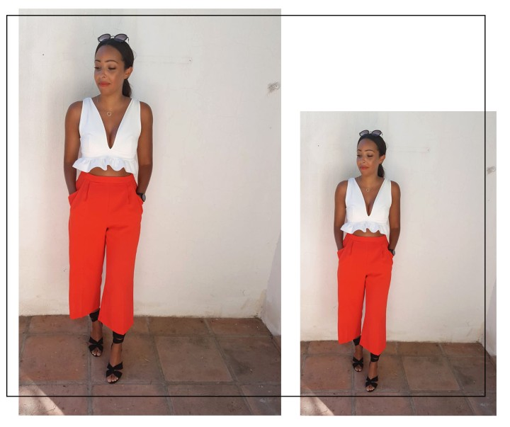 Red culottes dual