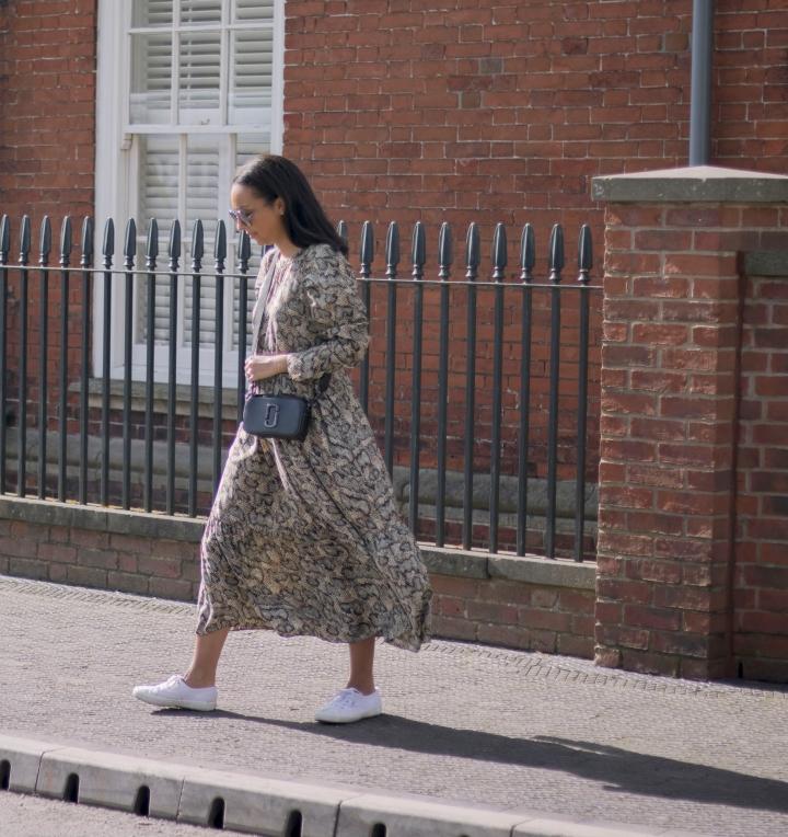 Zara snake print midi dress